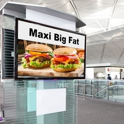 TV LCD dans un aéroport
