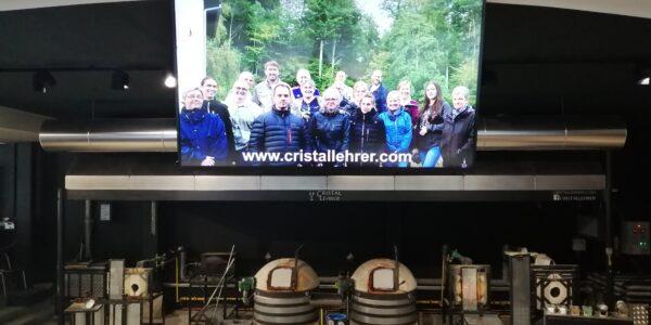Installation à la Cristallerie Lehrer