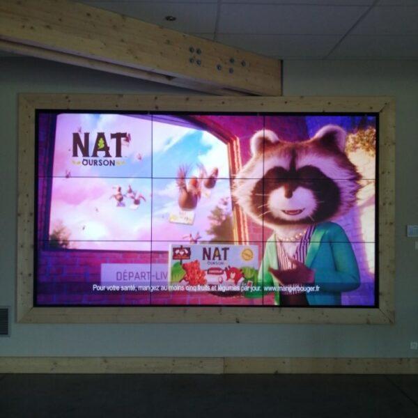 Mur d'images 9 écrans