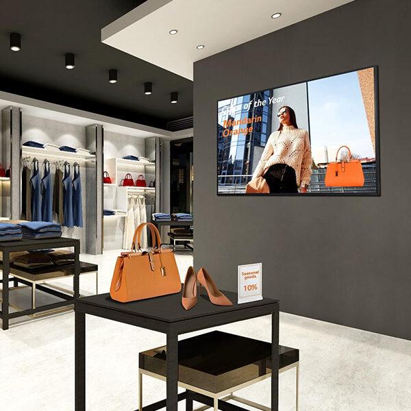 Écran intérieur en boutique